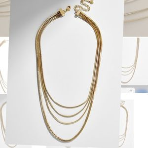 NWOT Baublebar gold necklace
